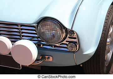 Vintage blue sportscar
