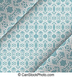Vector Ornate Vintage Background Blue And White