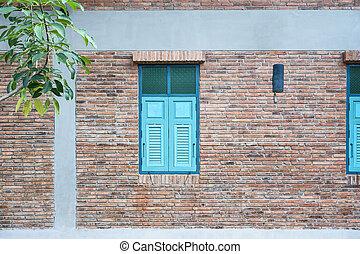 Vintage blue window.