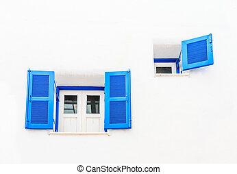 Vintage blue window
