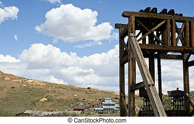 Vintage Bodie tower/ore mill