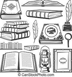 Vintage Book Elements Collection