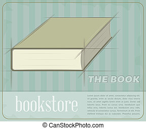 Vintage Book - Retro poster for the book store. Vector ...
