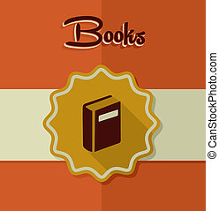 Vintage books label elements.