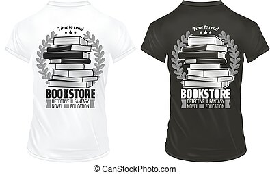 Vintage Bookstore Prints On Shirts Template