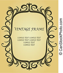 Vintage border in victorian style as a background