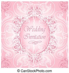 Vintage border with sample text on a seamless background