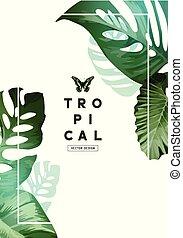 Vintage Botanical Leaf Frame Design