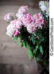 bouquet of pink chrysanthemum