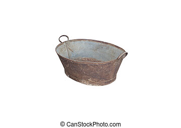 vintage bowl on isolated