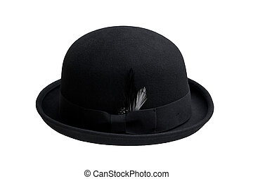 Vintage bowler hat isolated