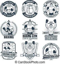 Vintage boxing logos