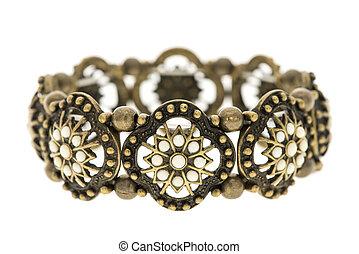 vintage bracelet isolated on white background