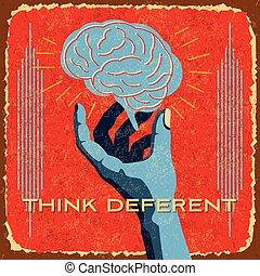 vintage brain idea