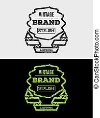 Vintage Brand Grunge Logo & Badges
