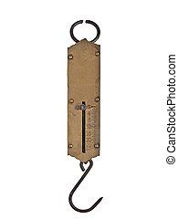 vintage brass spring scale - vintage portable brass spring ...