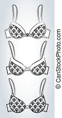 Vintage brassiere with ornament.