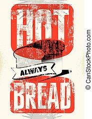 Vintage bread shop typography grung