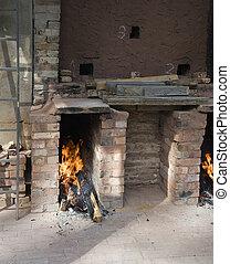 brick firing kiln - vintage brick firing kiln