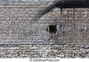vintage brick wall with ventilation