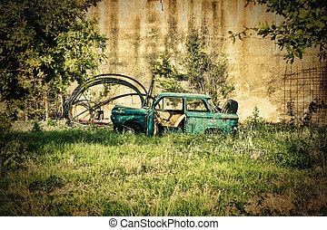 vintage broken car