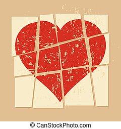 vintage Broken heart
