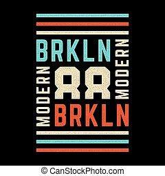 Vintage brooklyn print.