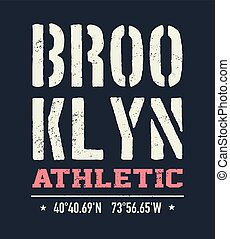 vintage brooklyn typography, t-shirt graphics
