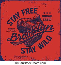 vintage brooklyn typography t-shirt graphics