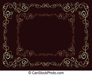 Vintage brown border