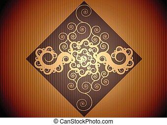 Vintage brown pattern