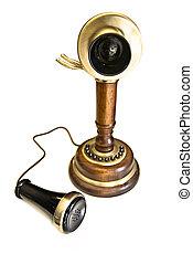 vintage brown phone