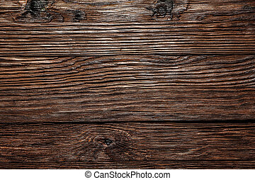 Vintage brown wooden surface top view