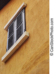 Vintage building with windows