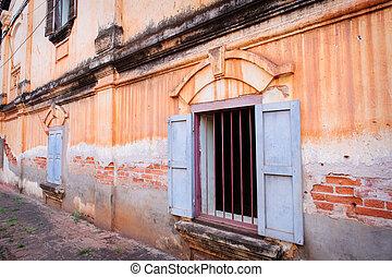 Vintage buildings in old city.