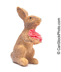 Vintage bunny toy isolated