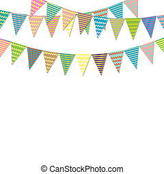 Vintage Bunting Flags, Vector Illustration