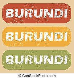 Vintage Burundi stamp set