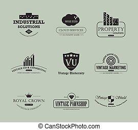 Vintage business logo element