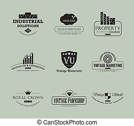 Vintage business logo element