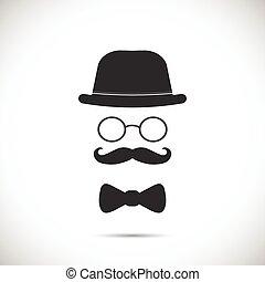 Vintage Business Suit Illustration - Illustration of a hat,...