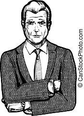 Vintage businessman portrait