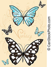 vintage butterflies 2