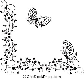 vintage butterflies 4 - Is a EPS 10 Illustrator file without...