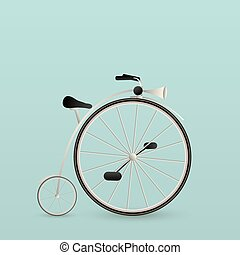 Vintage bycicle card