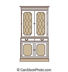 Vintage cabinet vector
