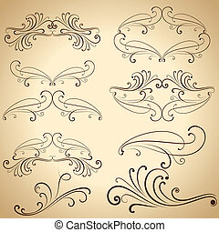 Vintage calligraphic design elements and dividers.