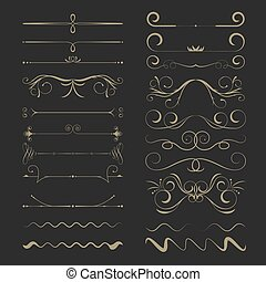 Vintage Calligraphic Design Page Dividers