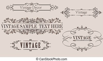 Vintage Calligraphy Frame Vector Graphics - Collection of...