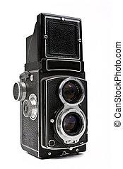 Vintage Camera - A vintage Camera on a white background.